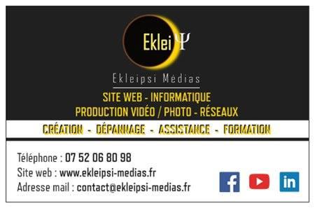 carte de visite de Ekleipsi Médias