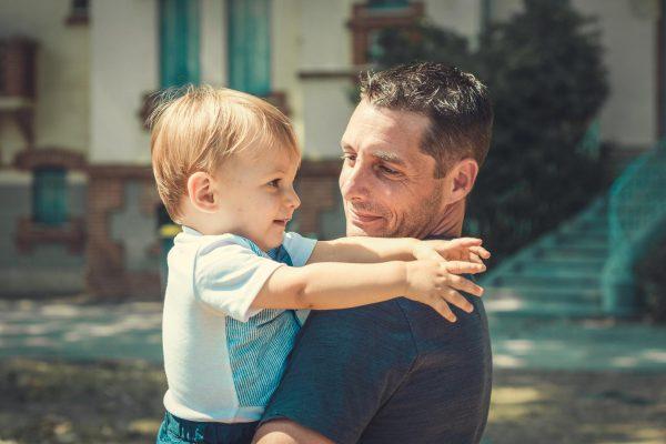 Mathis et son papa
