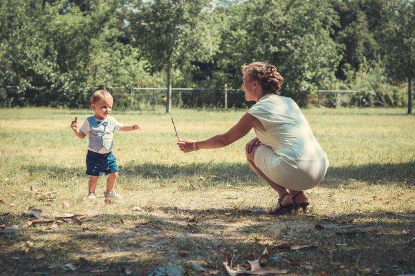 Mathis et sa maman
